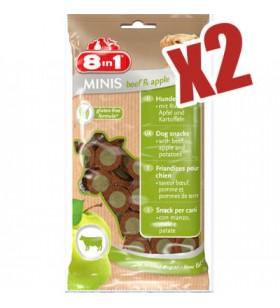 8in1 Minis Biftekli Elmalı Aperatif Köpek Ödülü 100 Grx2 Adet